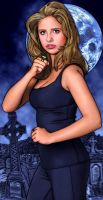 Buffy: Sarah Michelle Gellar by tygerbug