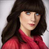 Zooey Deschanel digital by Crystalcoomber