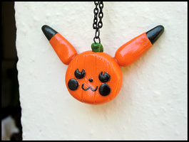 Pumpkinchu Necklace by GrandmaThunderpants