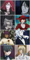 Fav. Black Butler Characters by EmoxCursexGrl92