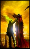 Ghost rider Vs Spawn by mievael