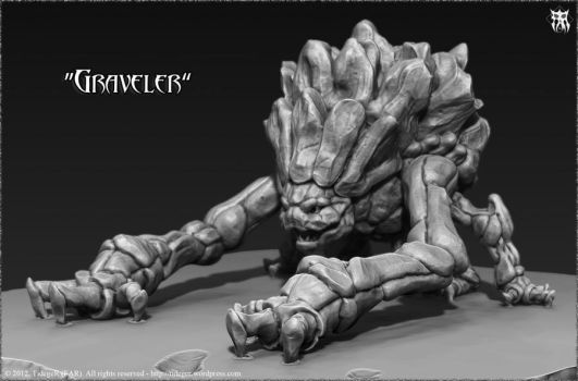 Graveler 3D (Pokemon) by Tideger