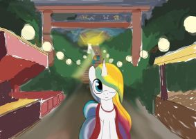 S.P.C: Summer Mare at Festival's End by PokeDigiSonic-PDS