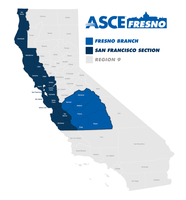 ASCE Fresno Branch - Map of California CBoundaries by graticle