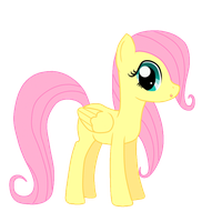 Filly Fluttershy Blink Cycle by Spartkle