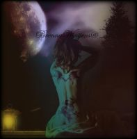 Full Moon Blessings by BrennsArtAttic