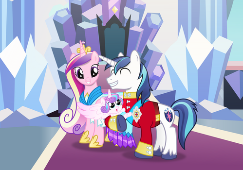 Shining Armour, Cadance and Flurryheart family pic by Vector-Brony