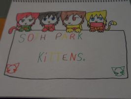 south park kittens :3 by queenlisa