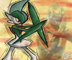 Pkmn Meme - Day 05 - Gallade by Patrick-Theater