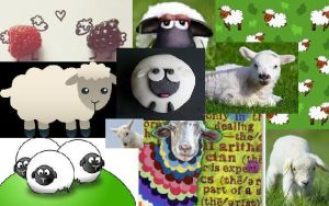 sheep collage by buttonsthegreat