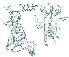Dee and Dum Concepts by KingCannibal
