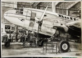 Curtiss C-46 Commando Drawing by alainmi