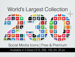 230 Shaded Social Media Icons Free and Premium by Designbolts