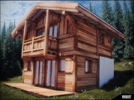 little swiss chalet wip by Mind-Rust