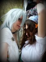 Fem!Prussia and Hungary [Pirate shooting] by YanderuAyu