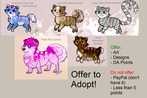Leftover Adopts: OFFER TO ADOPT by ScottishRedWolf