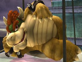 Bowser Makes Himself Comfortable by Tigura
