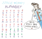 Space Dandy Alphabet Chart by julialee