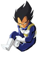 sitting Vegeta by NovaSayajinGoku