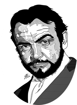 Sean Connery - Commission by BuddhaTeddy