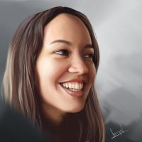 Ana Digital Painting by alvesan