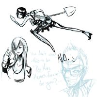 no more heroes doodles by bodysnatched