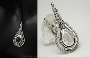 Rutilated quartz pendant by IMNIUM