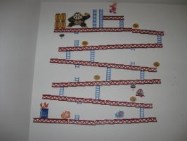 Perler Donkey Kong full girder set by rushtalion
