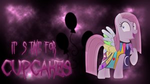 'It's Time For CUPCAKES' Pinkamena Diane Pie WP by BlueDragonHans