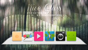 Nice Glass WHITE // ROCKETDOCK SKIN by FranceEditions