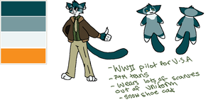 anthro cat pilot for OTA by sarnekichi