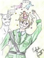 England and Charlie the Unicorn by LesFromages