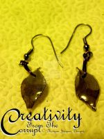 REAL LEAF Earrings by CreativityFTCorrupt