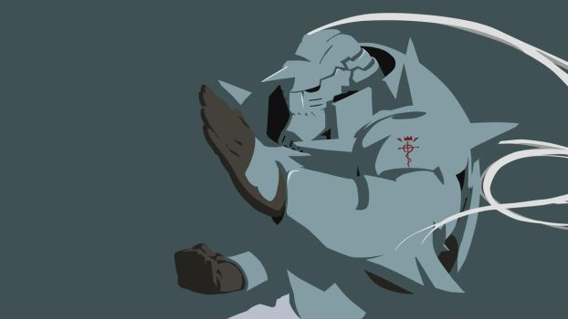 Alphonse Elric Simplified Wallpaper Dark Blue V by tonyp2121