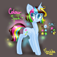 Colour Spark reference sheet by Vpshka