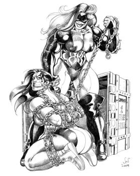 Commission: SheHulk vs Titania by Jebriodo