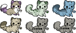 6 kitty adopts (OPEN) by Silversadopts
