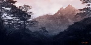Japan Mountains by tonyhurst