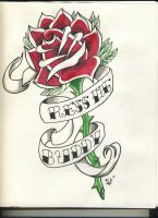 Rose and Banner by heely