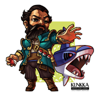 Kunkka - the Water Gym Leader by jasonwang7