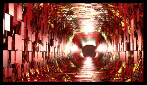 Red Mirrored Tunnel by Dr-Pen