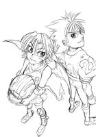 Eyeshield21 Sena and Suzuna by ClassicTime