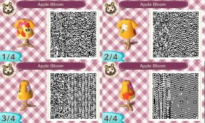 Animal Crossing NL Apple Bloom Design QR-Code by Stiv64