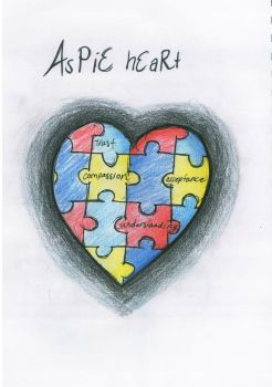 Autism Awareness Heart by katerlin