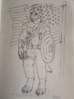 Capwolf Independence Day sketch by jmillart