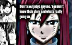 Erza, don't judge by Xela-scarlet