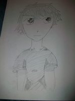 my first anime drawing by me by zack-pack