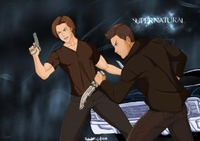 Supernatural Sam and Dean by Ninja-8004