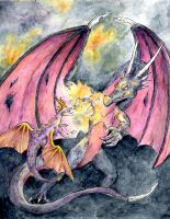 Spyro v. Cynder by StarvingScientist