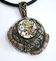 steampunk pendant by GoddessOvDoom